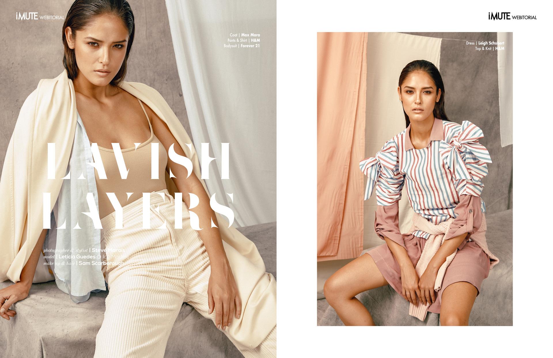 Lavish Layers definition webitorial for iMute Magazine Photographer & Stylist | Steve Marais Model | Leticia Guedes @ Ice Models Makeup & Hair | Sam Scarborough