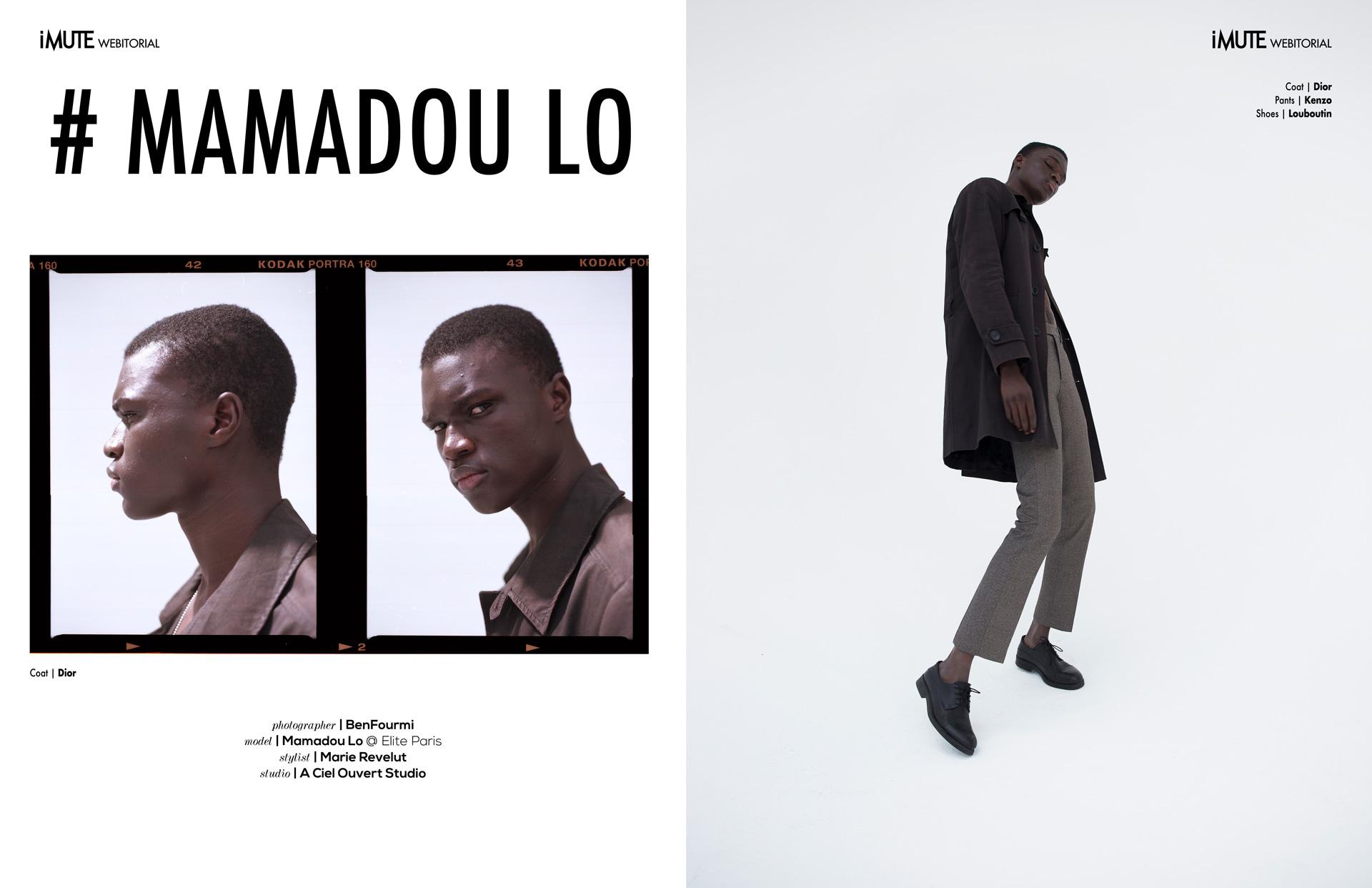# MAMADOU LO webitorial for iMute Magazine Photographer|BenFourmi Model| Mamadou Lo @Elite Paris Stylist| Marie Revelut Studio|A Ciel Ouvert Studio