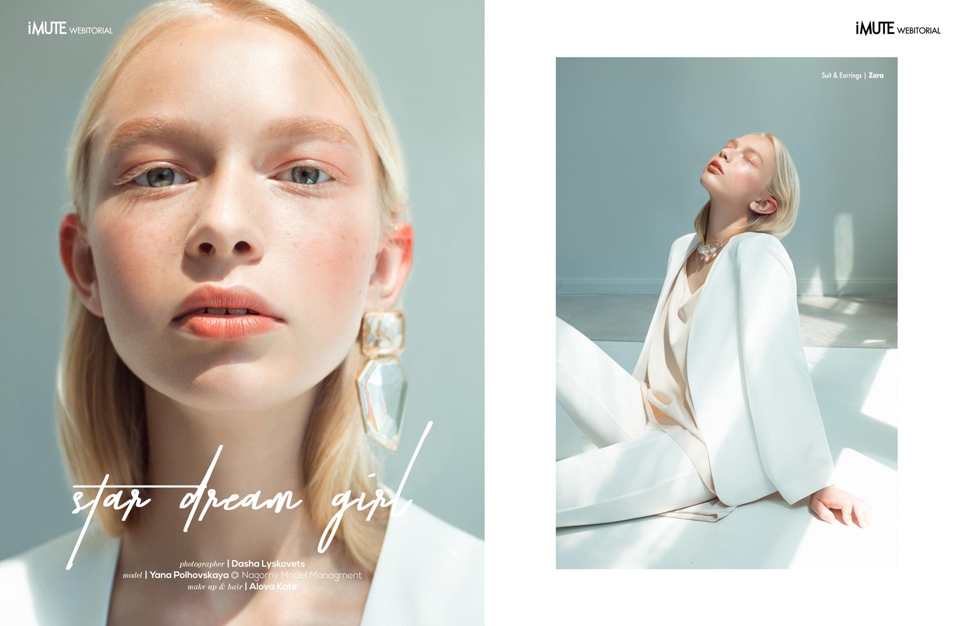 Star dream girl webitorial for iMute Magazine Photographer|Dasha Lyskovets Model| Yana Polhovskaya @Nagorny Models Makeup & Hair|Alova Kate