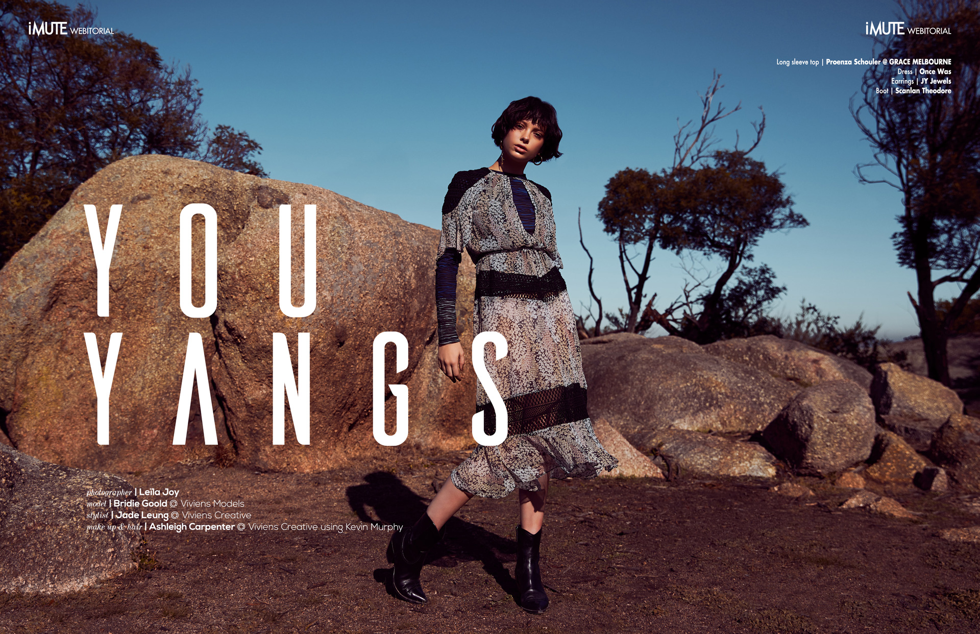 YouYangs webitorial for iMute Magazine Photographer | Leïla Joy Model | Bridie Goold @ Viviens Models Stylist | Jade Leung @ Viviens Creative Makeup & Hair | Ashleigh Carpenter @ Viviens Creative using Kevin Murphy