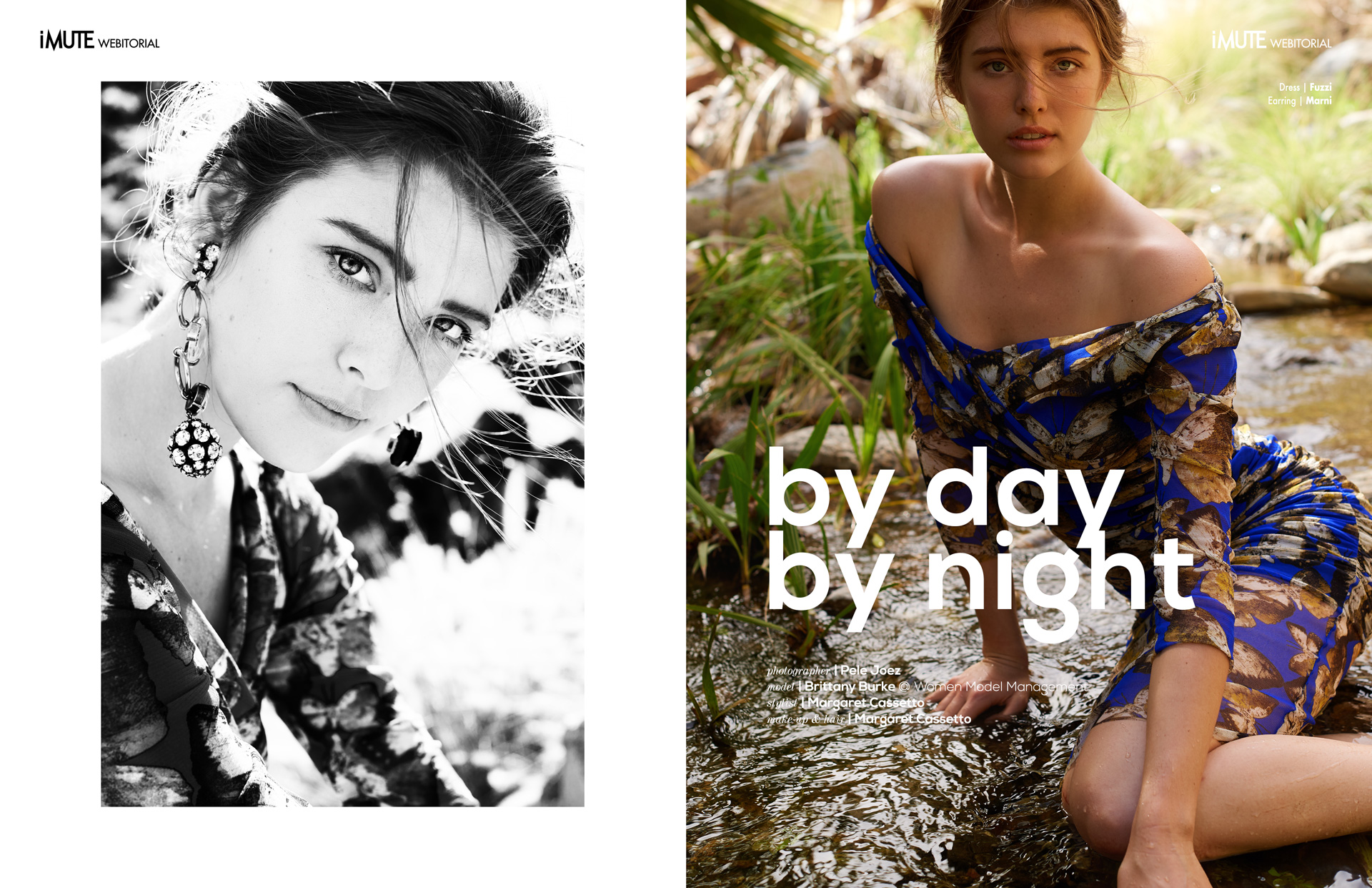 by day by night webitorial for iMute Magazine Photographer | Pele Joez Model | Brittany Burke @ WOMEN MODEL MANAGEMENT Stylist | Margaret Cassetto Makeup & Hair | Caitlin Krenz