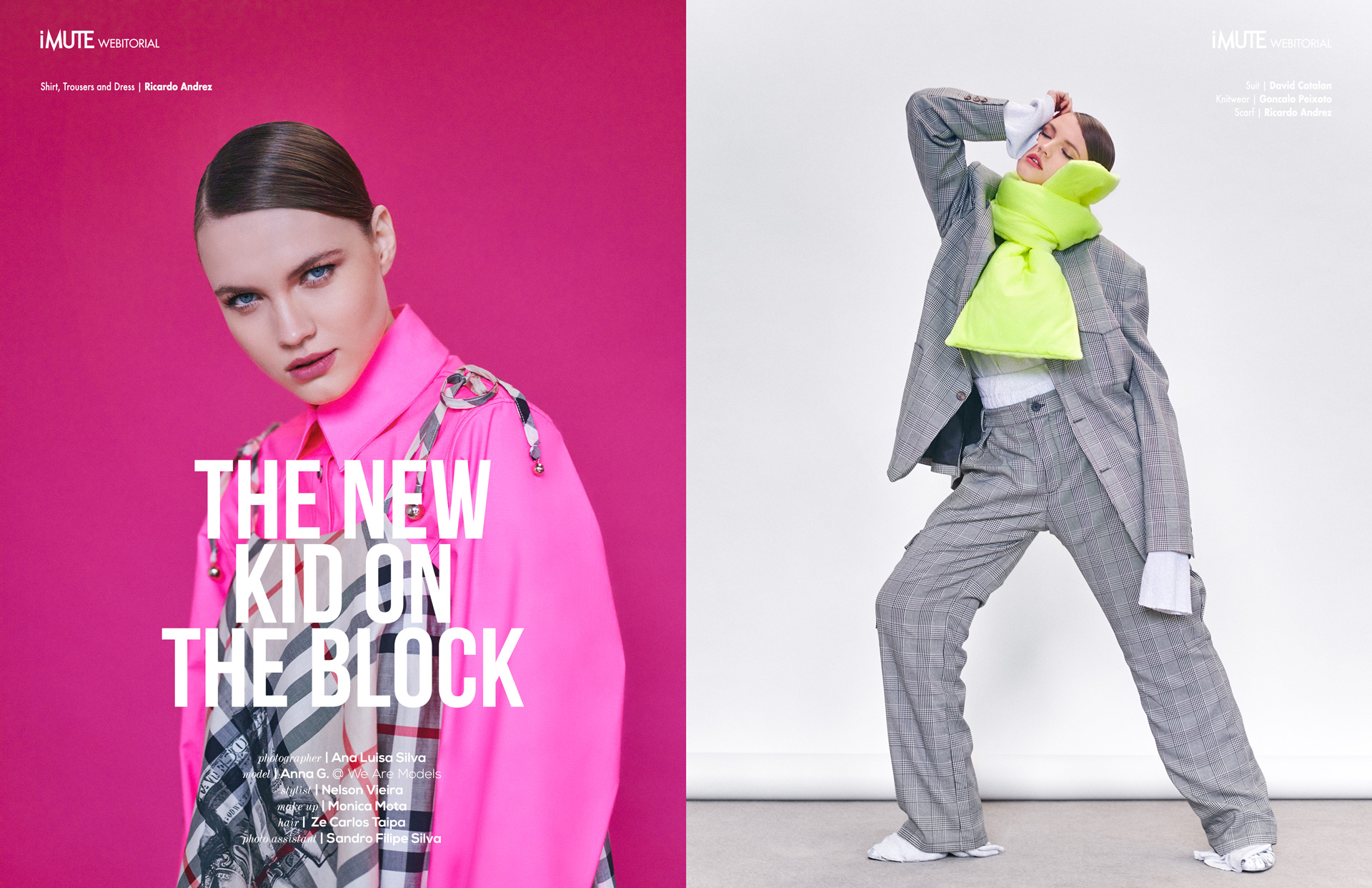 The New Kid on the Block webitorial for iMute Magazine Photographer | Ana Luisa Silva Model | Anna G. @ We Are Models Stylist | Nelson Vieira Makeup | Monica Mota Hair | Ze Carlos Taipa Photo Assistant | Sandro Filipe Silva