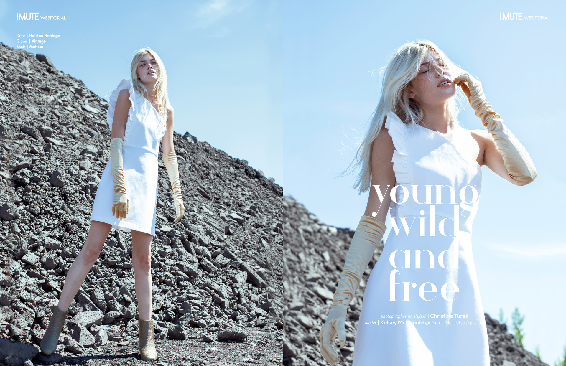 Young, wild and free webitorial for iMute Magazine Photographer & Stylist | Christine Turek Model | Kelsey McDonald @ Next Models Canada