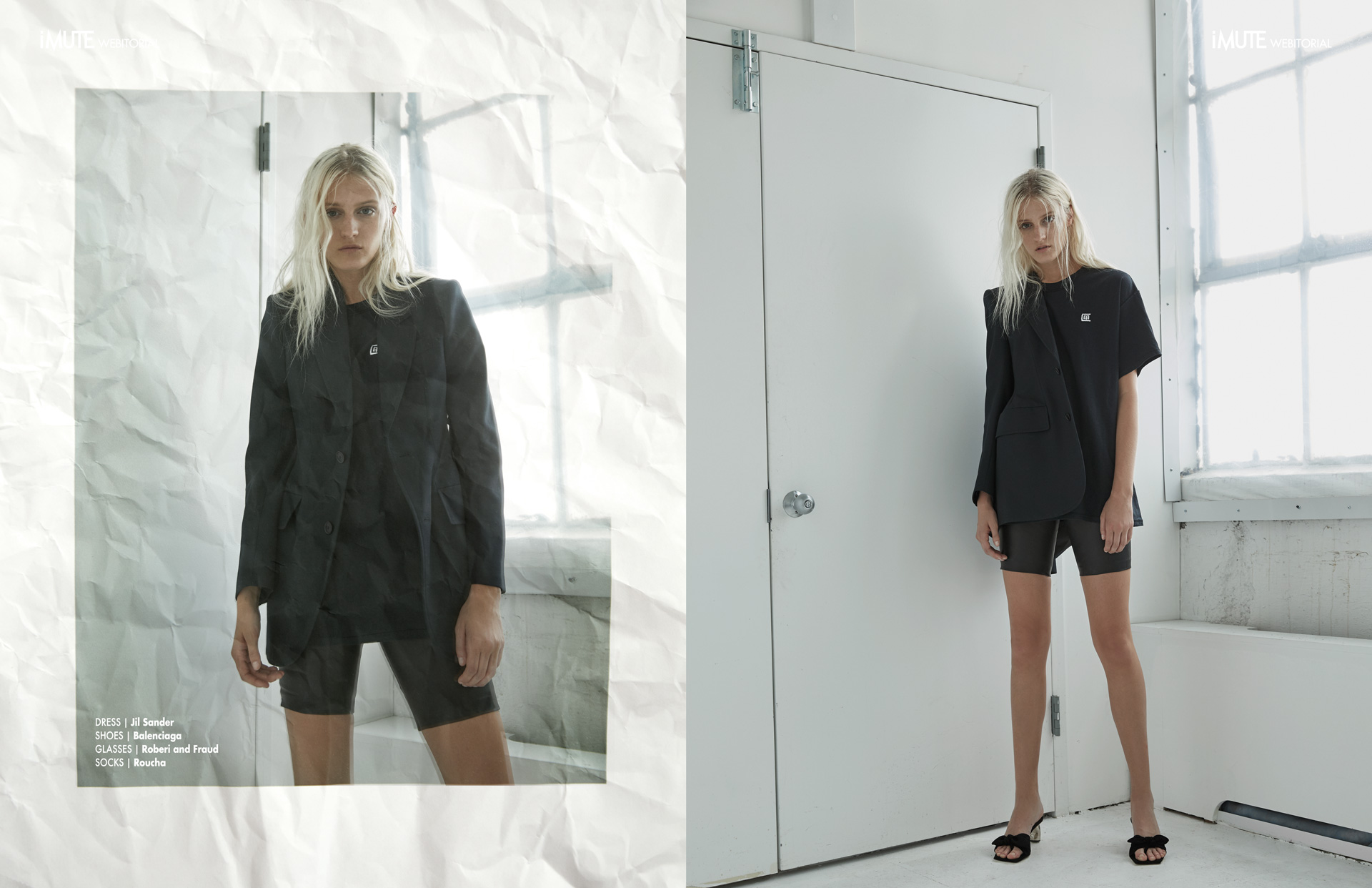 Black is the new Black webitorial for iMute Magazine Photographer|Kimber Capriotti Model| Abby Hendershot @Marilyn Agency NY Stylist|Gina Marie Barbaro Makeup|Heather Schnell Hair|Yukie Nammori