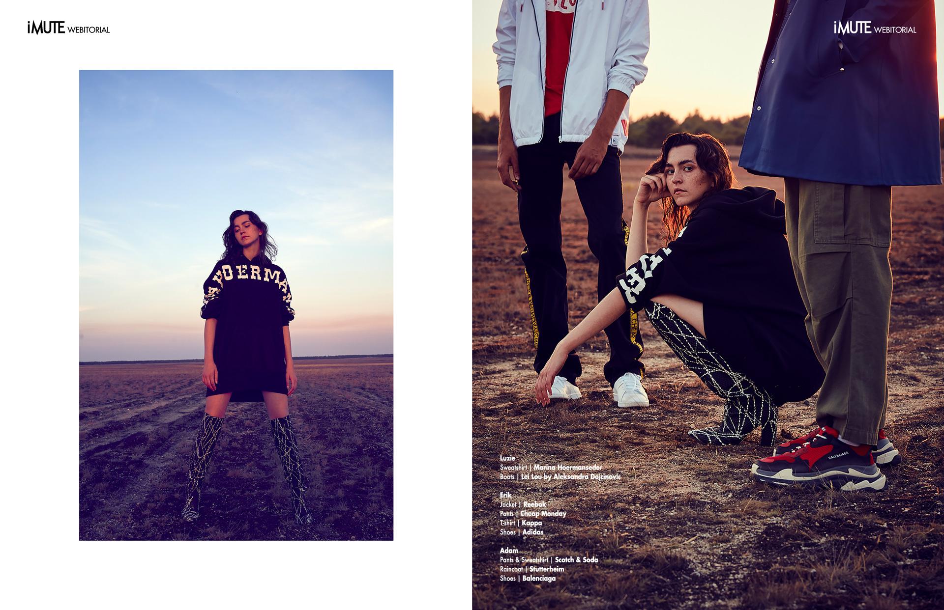 ESCAPING THE REAL WORLD webitorial for iMute Magazine Photographer|Sabrina Rynas Art Director|Christian Ruess Models| Luzie, Adam & Erik @Izaio Management Stylist|Davor Jelusic Makeup & Hair|Wiebke Reich
